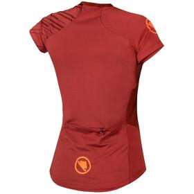 Endura SingleTrack Koszulka z krótkim rękawem Kobiety, czerwony